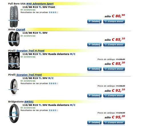 Neumáticos de moto enduro
