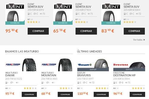 Confort Auto ofertas de neumáticos