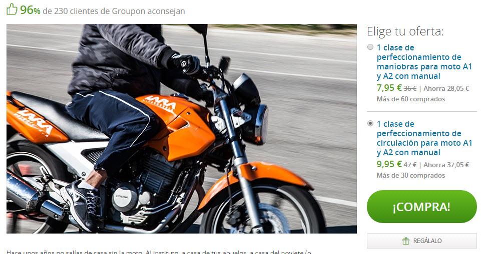 cursos de reciclaje de conduccion de moto