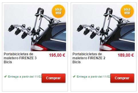 portabicis coche precios