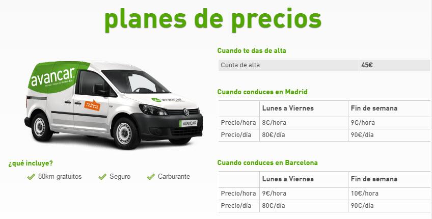 avancar furgonetas precios