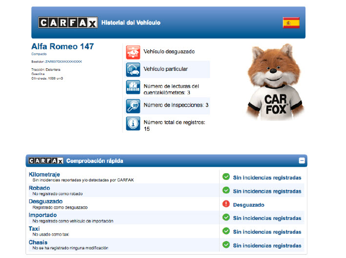 informe de vehiculos online