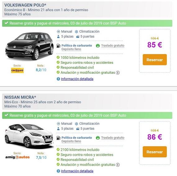 bsp auto reserva gratis